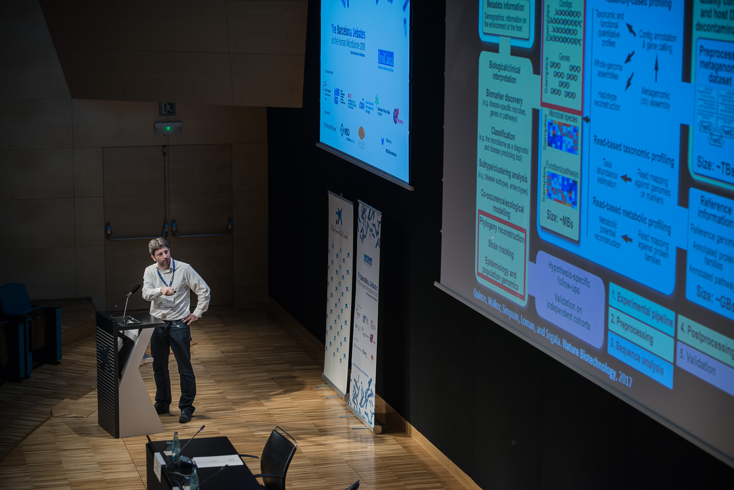 Nicola Segata at The Barcelona Debates on the Human Microbiome 2018