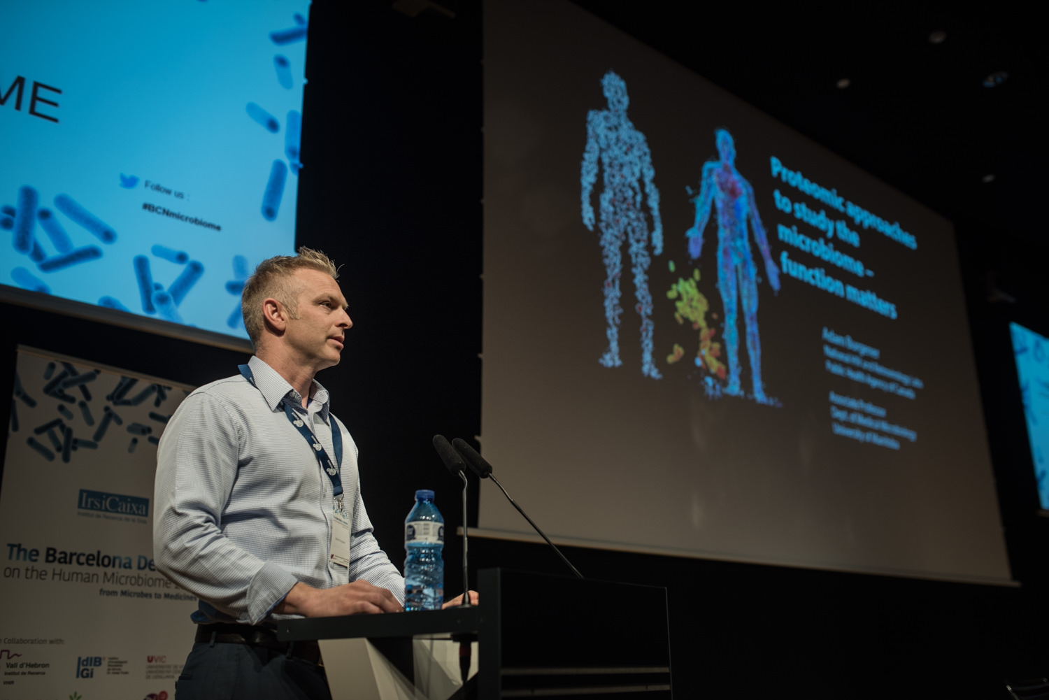 Adam Burgener at The Barcelona Debates on the Human Microbiome