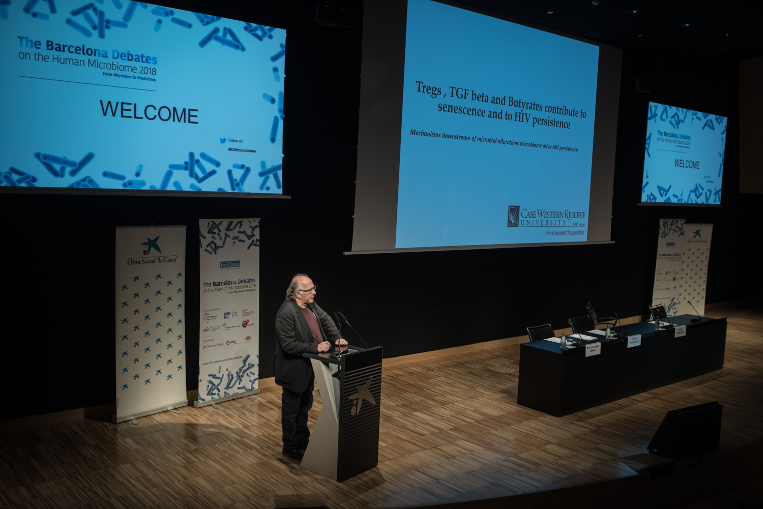 Rafick-Pierre Sékaly at The Barcelona Debates on the Human Microbiome 2018